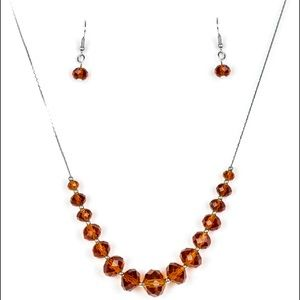 Crystal Carriages - Brown Necklace